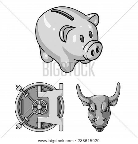 Money And Finance Monochrome Icons In Set Collection For Design. Business And Success Vector Symbol
