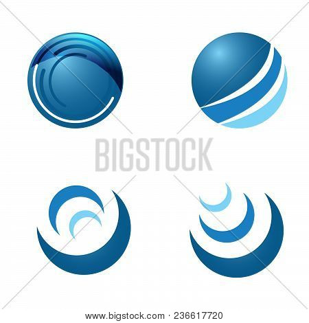 Abstract Circle Logo Template. Planet Vector Design. Technology Orbit Logo Vector. Round Ring Circle