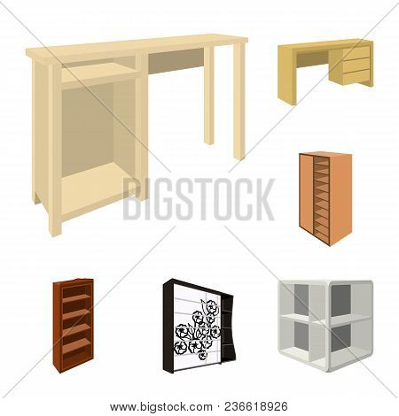 Bedroom Furniture Cartoon Icons In Set Collection For Design. Modern Wooden Furniture Isometric Vect