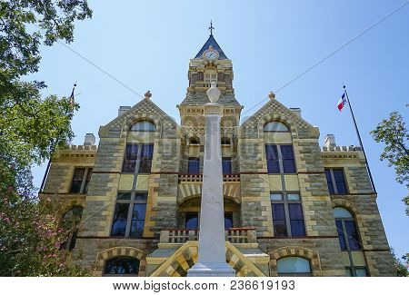 Romanesque Revival Style Fayette County Courthouse In La Grange Texas