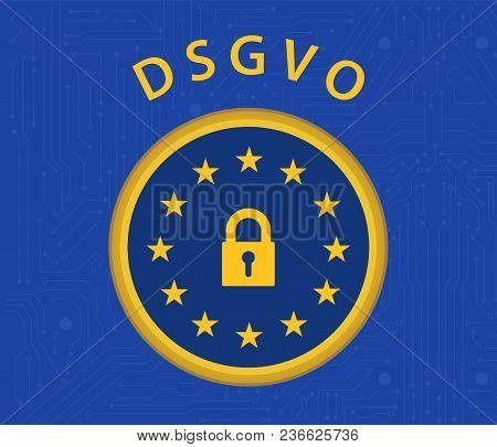 General Data Protection Regulation German Mutation Concept