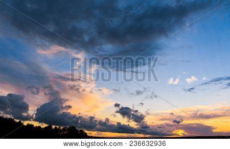 Bright Horizon Fiery Cloud