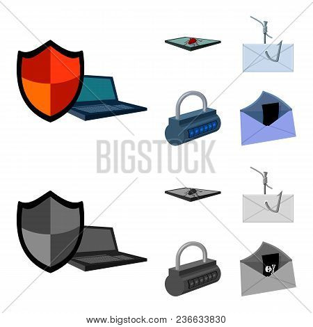 Hacker, System, Connection .hackers And Hacking Set Collection Icons In Cartoon, Monochrome Style Ve