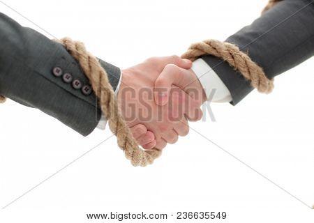 closeup .the associated handshake business partners.