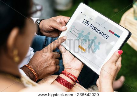 Indian family interested in life insurance