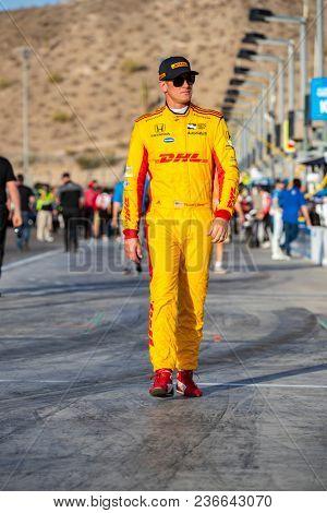 April 06, 2018 - Avondale, Arizona, USA: Ryan Hunter-Reay (28) prepares to qualify for the Desert Diamond West Valley Casino Phoenix Grand Prix at ISM Raceway in Avondale, Arizona.
