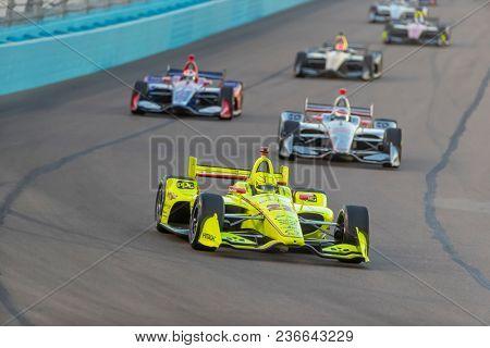 April 07, 2018 - Avondale, Arizona, USA: Simon Pagenaud (22) races through the turns during the Desert Diamond West Valley Casino Phoenix Grand Prix at ISM Raceway in Avondale, Arizona.
