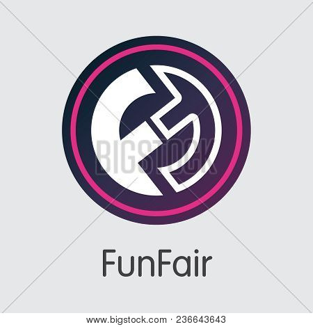 Funfair Blockchain Pictogram Symbol. Blockchain, Block Distribution Fun Transaction Icon