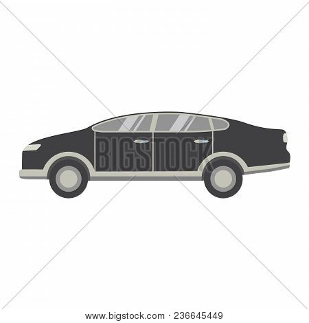 Sports Modern Business Sedan.the Car For Driving Around The City.the Vehicle With The Internal Combu
