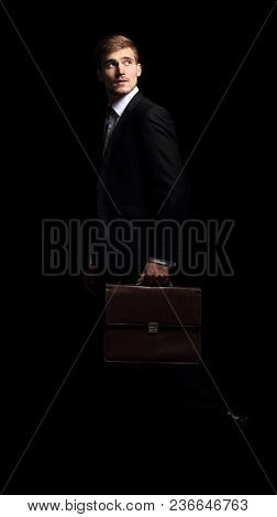 portrait of a stylish and confident businessman