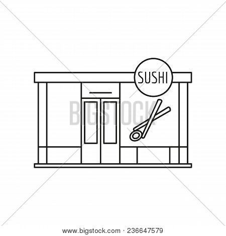 Sushi Store Front Icon. Outline Sushi Store Front Vector Icon For Web Design Isolated On White Backg