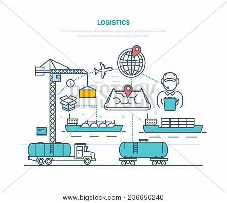 Logistics. Organization Delivery, Services For Transporting Cargo, Selecting Transport, Optimizing T