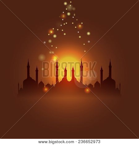Al-isra Or Leyletul Gadr Background. Translation Of Al-isra And Leyletul Gadr Is Glorious And Myster