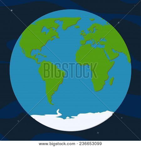 Globe Planet. Africa, Europe And America Continents. World Map