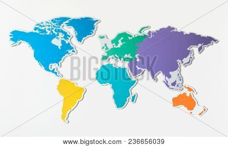 Free blank map of Asia