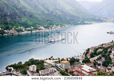 Kotor, Montenegro - May 16, 2014: Beautiful Landscape Of The Kotor Bay From The Peak Of Lovchen Moun