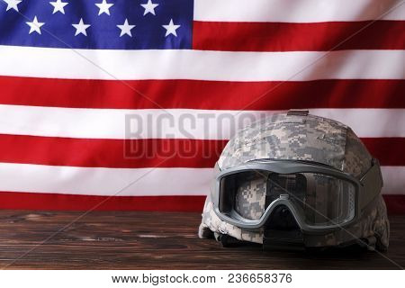 Background Flag Of The United States Of America For National Federal Holidays Celebration And Mourni