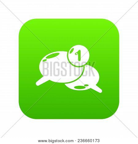 Dialog Icon Green Vector Isolated On White Background
