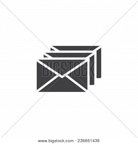 Envelope Letters Vector Icon. Filled Flat Sign For Mobile Concept And Web Design. Mail Simple Solid