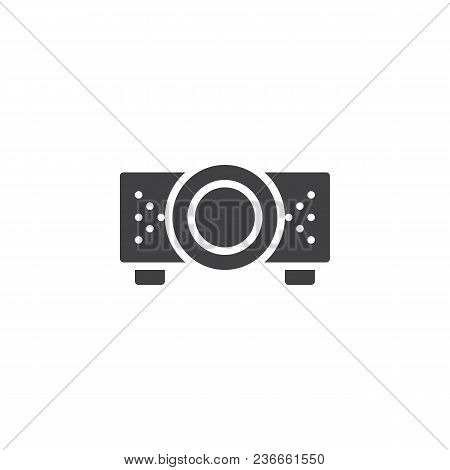 Digital Projector Vector Icon. Filled Flat Sign For Mobile Concept And Web Design. Projector For Pre