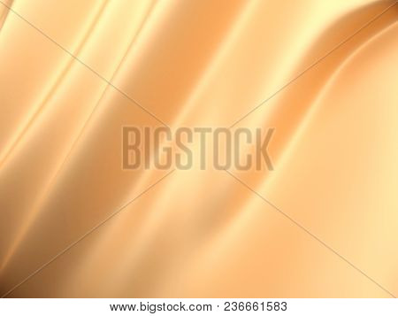 Beautiful Gold Satin Fabric For Drapery Abstract Background