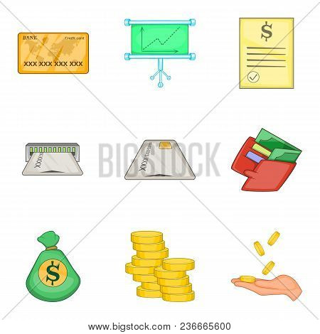 Cheap Loan Icons Set. Cartoon Set Of 9 Cheap Loan Vector Icons For Web Isolated On White Background