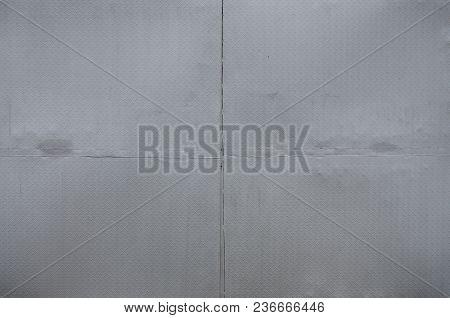 Aluminium Dark List With Rhombus Shapes. It's Silver With Rhombu