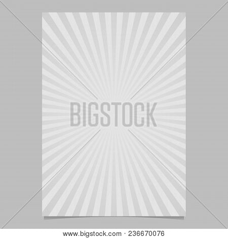 Abstract Explosion Brochure Design Template - Vector Page Background Design From Radial Rays