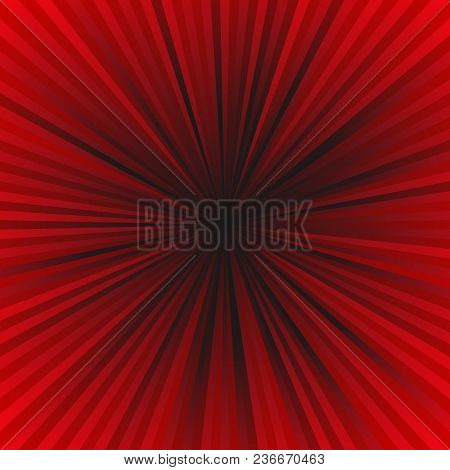 Dark Red Ray Burst Background - Motion Vector Graphic Design From Striped Rays