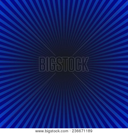 Dark Blue Geometric Abstract Ray Burst Background - Gradient Vector Design With Radial Stripe Rays