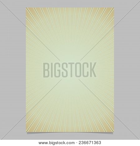 Dynamic Sun Burst Page Template - Gradient Vector Brochure Background Graphic Design With Striped Ra