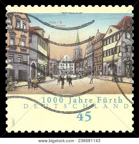 Germany - Circa 2007: Stamp Printed By Germany, Color Edition On Anniversaries, Shows Millennium Of