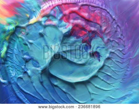 Abstract color acrylic brush strokes paint. Textured background.