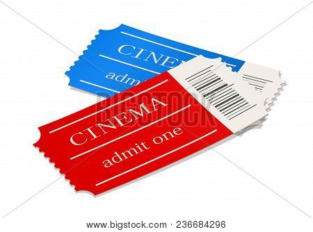 Cinema Ticket. Movie Access Pass. Cinematograph Symbol. Film Entry Card. Theatre Permit Coupon. Isol
