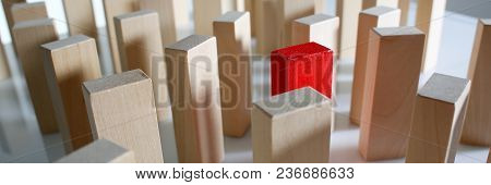 One Red Winner Lottery Wood Block Row Lead Rare Disease Multilevel Personofication Authority Back Se
