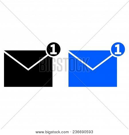 One New Incoming Message Envelope With Notification
