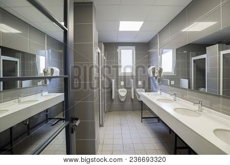 New commercial public restroom.