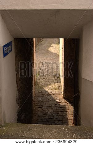 Narrow Fahrgasse Or Lane In Cochem-cond, Germany