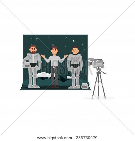 Movie Production, Entertainment Industry, Movie Making Vector Illustration, Web Design