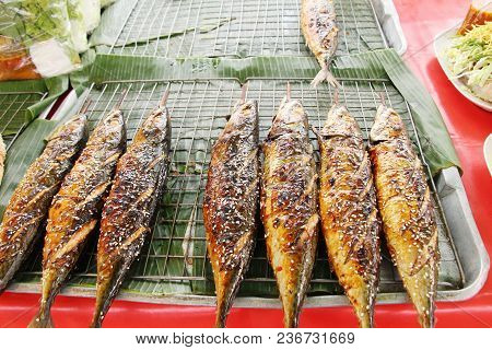 Grilled Fish Is Delicious In The Market