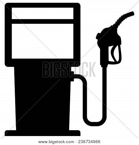 Gas Pump Graphic - A Vector Cartoon Illustration Of A Gas Pump Concept.