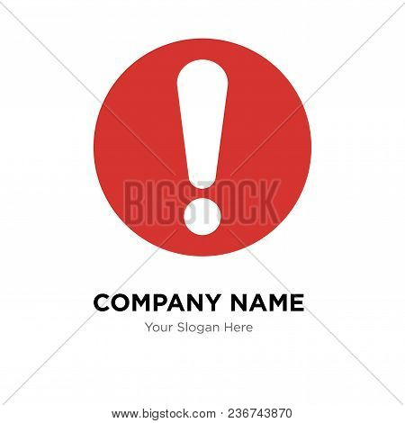 Exclamation Company Logo Design Template, Business Corporate Vector Icon