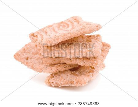 Cereals Breakfast .corn Flakes.corn Flakes Breakfast Cereal, Isolated On A White Background