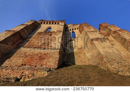The Slimnic Fortress On The Hills. Transylvania, Romania