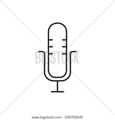 Microphone Voice Icon On The White Background