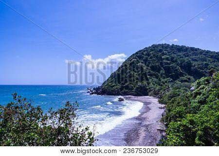 Wild Tropical Beach Along The Coast Next To Caracas (vargas, Venezuela).