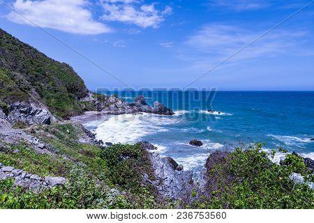 Wild tropical beach next to Caracas (Vargas, Venezuela).