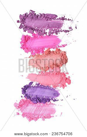 Smear Of Crushed Purple And Pink Eyeshadow As Sample Of Cosmetic Product