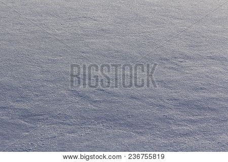Granular Texture Of Surface Of Snow Pack