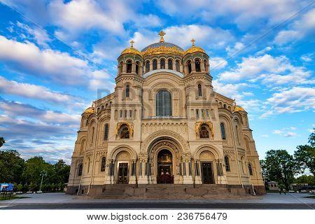 Orthodox Naval Cathedral In Kronstadt, Saint Petersburg